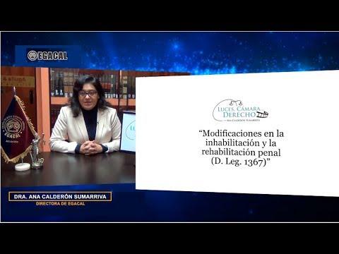 Programa 93 - Modificaciones en la inhabilitación y la rehabilitación penal (D. Leg. 1367)
