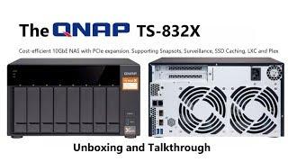 Qnap TS-832X-8G Desktop NAS 8-Bay RAID (8GB RAM) + 10GbE SFP+ 80TB (8 X  10TB Seagate IronWolf (NAS))