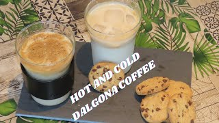 Hot and cold Dalgona coffee | Green palate | Ramya Kishore | Quick recipes| Beverage