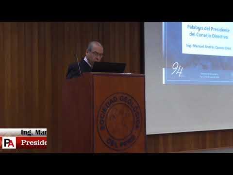#94aniversario - Ing. Manuel Andrés Quiroz Díaz, Pdte. de la Sociedad Geológica del Perú