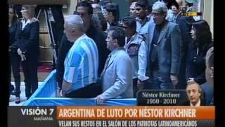 Visión Siete Luto Por Kirchner Comenzó El Ingreso A Casa Rosada