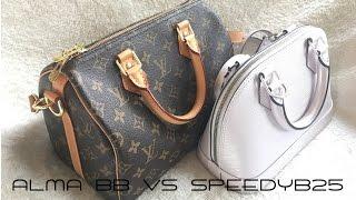 Louis Vuitton ALMA BB Vs SPEEDY B 25   Comparison + Review