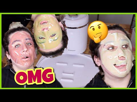 Die Maske für die Person die Zitrone das Ei von den Pickeln