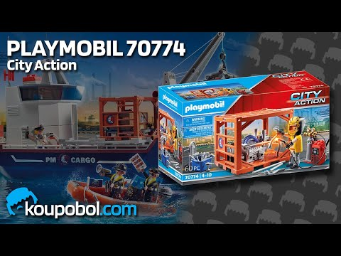 Vidéo PLAYMOBIL City Action 70774 : Ouvrier et conteneur