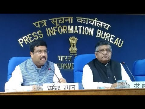 Cabinet briefing by Union Minister Ravi Shankar Prasad and Dharmendra Pradhan