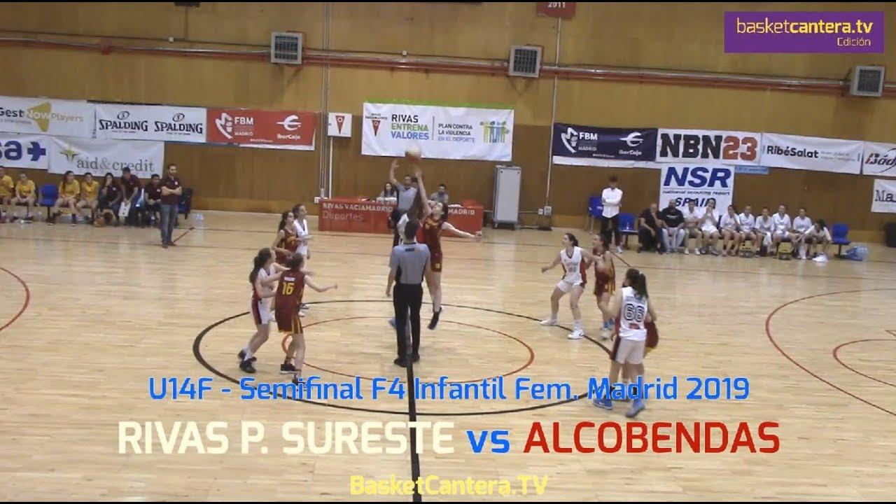 U14F - RIVAS P. SURESTE vs ALCOBENDAS.- Semifinal F4 Infantil Fem. Madrid 2019 (BasketCantera.TV)