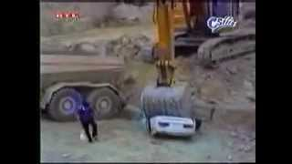 Dont piss off the backhoe operator