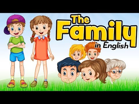 The Family Members in English for Beginners