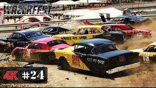 OUTLAW ONSLAUHGT FULL Series - Wreckfest Demolition Racing Onboard 4K - PRO INTERNATIONALS #24