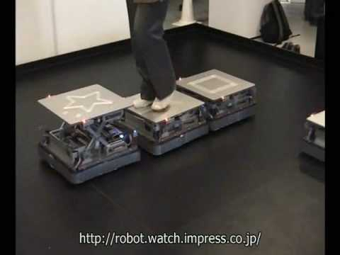 CirculaFloor Autonomous Floor Tiles Drag the Ground from Under Your Feet in Virtual Reality