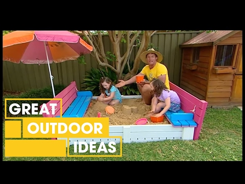 Build Your Own DIY Sand Pit Seat | Outdoor | Great Home Ideas