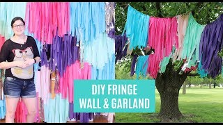 Fringe Backdrop DIY | Tassel Backdrop | Fringe Garland