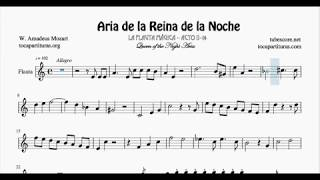 Queen Of The Night Aria Easy Sheet Music For Flute Recorder A Minor Magic Flute Mozart