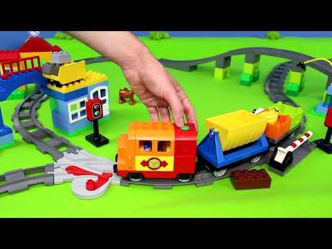 LEGO Duplo Züge, Kran, Spielzeugautos & Eisenbahn für Kinder | Zug/Trains Unboxing deutsch