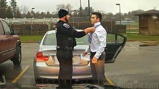 Dashcam: Police Officer Helps Speeding Student Tie His Tie - Video Youtube