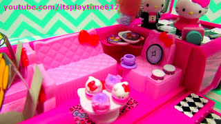 Hello Kitty Dance Party Limo Limousine Unboxing Toys Play! Itsplaytime612