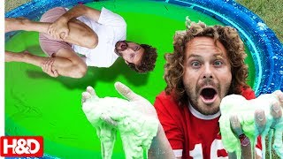 OOBLECK SWIMMING POOL!! (GONE WRONG) Insane Backflip Challenge with Lizzy & Carter Sharer