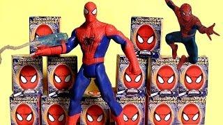 Spiderman Choco Treasure Toy Surprise Eggs DC Marvel Sorpresa Huevos by ToysCollector