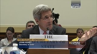 """John Kerry: """"Congressman, I don't need any lessons from you about who I represent."""" (C-SPAN)"""
