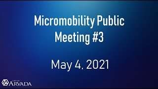 Preview image of Micromobility Public Meeting #3 - May 4, 2021