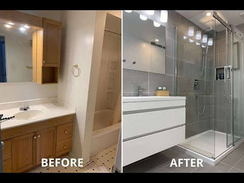 Amazing DIY Small Bathroom Remodel Renovation for under $5K timelapse