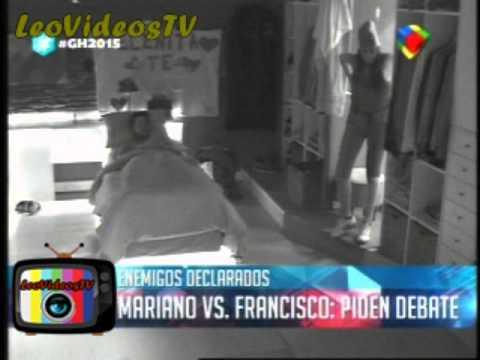 Francisco sin codigos quizo exponer a Mariano GH 2015 #GH2015 #GranHermano