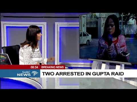 Two arrested in Gupta raid