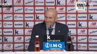 Rueda de prensa de ZIDANE post Athletic Bilbao 0-1 Real Madrid (05/07/2020)