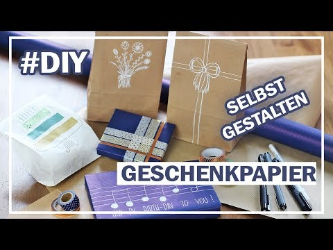 GESCHENKPAPIER DIY   12 x schnell + einfach SELBST GESTALTEN