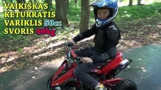 Vaikiškas keturratis motociklas 50cc Kids quad pocket bike ride