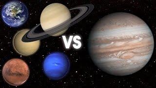 ¿QuÉ PasarÍA Si Todos Los Planetas Chocasen Contra JÚPiter?