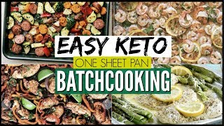 🔥EASY KETO FAMILY MEAL PREP FOR THE WEEK ● FRUGAL KETO SHEET PAN MEALS ● BATCHCOOKING LIKE A BOSS!