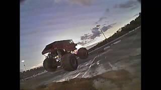 Friday -Drifting Freestyle with Monster Trucks at Lake Erie Speedway | FPV Drone- DVR