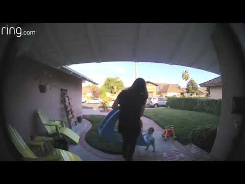 Phoebe's 1st Steps - Caught on Video Doorbell!