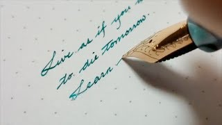 Beautiful Handwriting With Fountain Pen | Fountain Pen Calligraphy