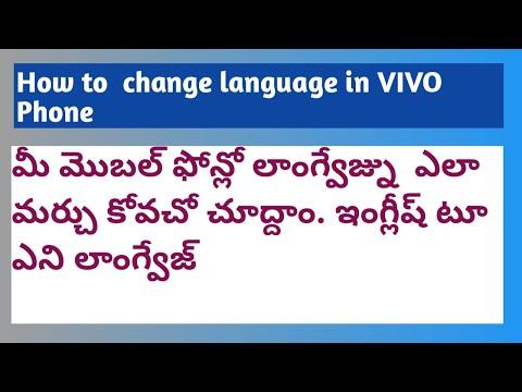 Language Change in VIVO