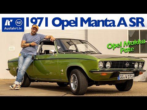 1971 Opel Manta A SR - der Pate des neuen Opel Markengesichts