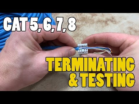Terminating/Testing Network Cables – CAT 3, CAT5, CAT6, CAT 7, CAT 8