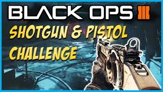 "Black Ops 3 ""The Giant"" Zombies Shotgun & Pistol Challenge! - BO3 Zombies Challenges!"