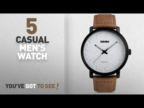 Top 10 Casual Men's Watch [2018]: Mens Unique Analog Quartz Waterproof Business Casual Leather Band