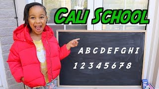 Pretend School With Teacher Cali  Famoustubekids