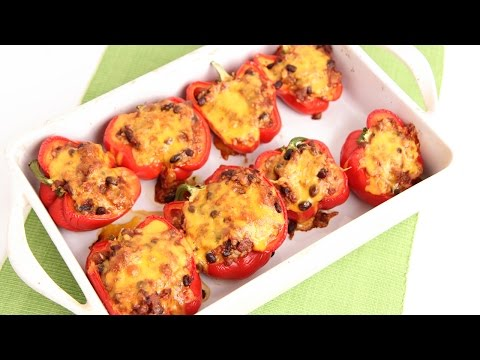 Chili Stuffed Peppers Recipe – Laura Vitale – Laura in the Kitchen Episode 820