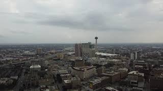 San Antonio downtown flight DJI Mini 2 drone 4K
