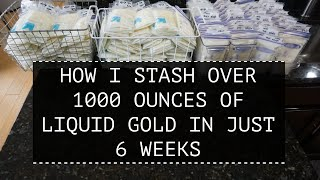 HOW I STASH OVER 1000 OUNCES OF MILK IN ONLY 6 WEEKS || BREASTFEEDING TIPS