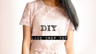 DIY Lace Top With Sleeves
