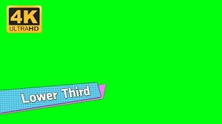 【Lower Third 4K】Video backgrounds Green Screen 4K  - Footage CGI VisualFX | Part 155