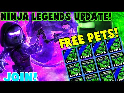 ⚡NINJA LEGENDS GIVEAWAY !NEW UPDATE Thunderstorm| IMMORTAL NEW PETS!GIVEAWAYS🔴Roblox Live Stream
