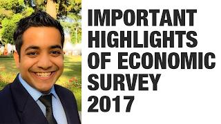 Important topics/highlights of Economic Survey 2017 (Page, Paragraph wise) - Roman Saini