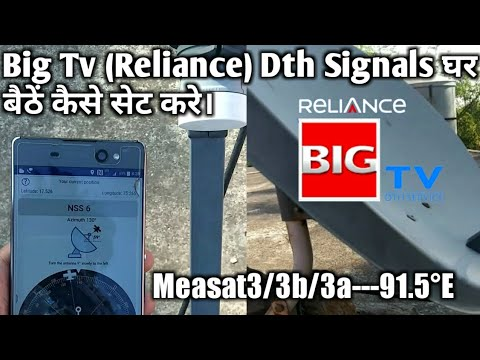 Big Tv (reliance) Dth Antenna Signal Direction Setup At Home! Quick Satellite Finder 2019 Hindi