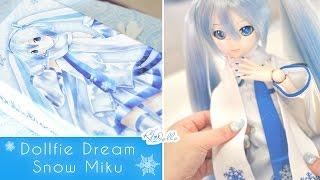 Dollfie Dream Hatsune Miku [ Snow Miku Ver. ] Unboxing ~ ❄️💙